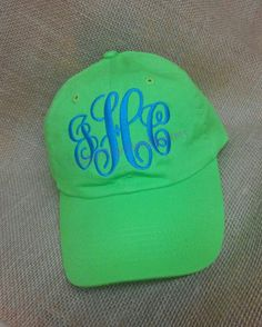 Monogrammed Women's BallCap Personalized for by LibbyRayMonograms, $15.00