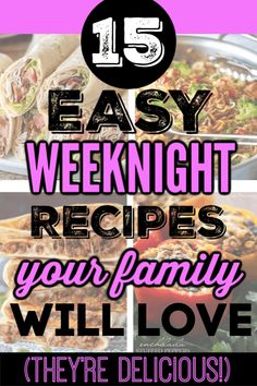 The best fast and easy ways to make weeknight dinner recipes on a small budget. Delicious meals on a small tight budget when you have a tight grocery food budget Here are the best yummy healthy meals when money is tight but you need to feed a big family. Here frugal meals to make when you're broke (and if you suck at cooking). #frugalmeals #frugalmealshealthy #frugalmealsforlargefamilies #frugalmealsandsnacks #frugaldinners #frugaldinnersfamilies #frugaldinnerssavingmoney… 15 Minute Dinners, Fast Dinners, Easy Weeknight Dinners, Frugal Meals, Food Budget, Cooking On A Budget, Budget Meals, Large Family Meals, Big Family