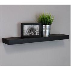 Metal Floating Wall Shelf Photo Ledge Display Bookshelf Wall Mounting Hardware Included 17 Inches Black
