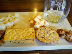 Wine, Cheese and Crackers at Bell Springs Winery