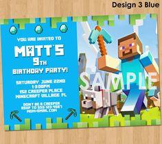 Minecraft Invitation  Minecraft Birthday by LCDesigns615 on Etsy, $8.99