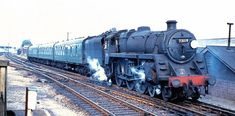 BR Class No. 73119 Elaine in happier times at Basingstoke. Its demise came at the Cashmore yard in Newport, not at the Buttigieg one. Railroad History, Standard Gauge, Steam Railway, British Rail, What Really Happened, Swansea, West Midlands, Steam Engine, Steam Locomotive
