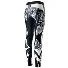 Leggings for women MOKO. Color: black and white. Leggings are made of high quality material. Moisture-wicking fabric - leaves the body dry and hot. Sublimated pattern is not destroyed. Special rubber waist leggings prevents slipping during the fight.