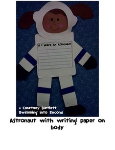 Children can independently construct their own astronaut and write a paragraph all about astronauts.