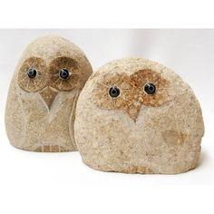 T-Trove Asian Decor - Irregular River Rock Owl 6in Tall, $29.00 (http://www.t-trove.com/products/Irregular-River-Rock-Owl-6in-Tall.html)