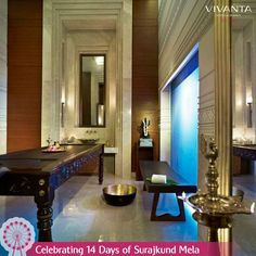 #Day3 Requiescence that's not lesser than art! Refresh your senses at the Jiva Grande Spa at Vivanta by Taj - Surajkund. Know more: http://on.fb.me/1ztW38e #Spa #Rejuvenate #Refresh #Delhi