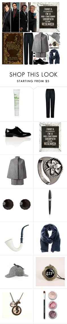 """Sherlock Holmes"" by theclevergirl ❤ liked on Polyvore featuring Bliss, Maison Margiela, MSGM, Martine Wester, Pineider, American Vintage, Bare Escentuals and NARS Cosmetics"