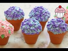 Flowerpot Cupcakes for Mothers Day w/ ANNEORSHINE | My Cupcake Addiction ( I guess you would have to eat these with a spoon or fork?)