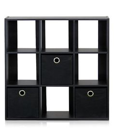 AMAZING PRICESl Black Nine-Cube Organizer #zulilyfinds LOWEST PRICES EVER ON THIS ITEM!