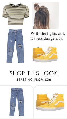 """""""Untitled #478"""" by kenzie10924 ❤ liked on Polyvore featuring Vans and Topshop"""