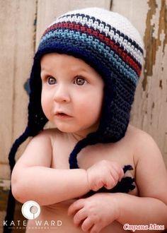 Delicadezas en crochet Gabriela: Gorros niños