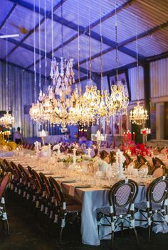 Wow - these chandeliers are unbelievably gorgeous!