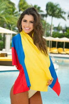 Paulina Vega In Colombian Flag Bogota Colombia South America Miss Colombia Colombia Travel
