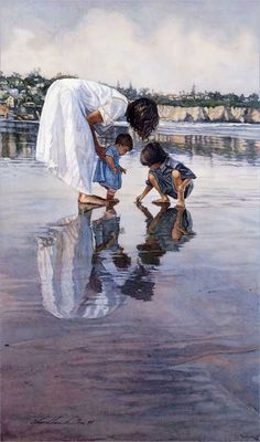 """New Discoveries"" watercolour by Steve Hanks"