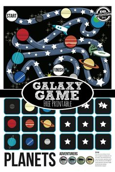 {Stars and Planets} Free Printable Game #planets #galaxy #homeschool