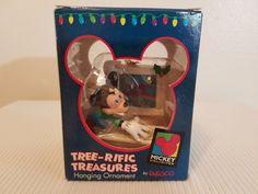 Disney Mickey Mouse on Computer Tree-rific Treasures Hanging Ornament Enesco #Enesco