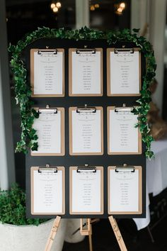 Love the clipboard seating chart! Amanda Alessi Photography.