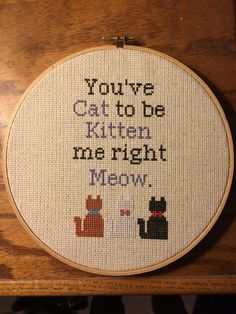 I love puns and so does Alissa... and she also loves cats. So, for Christmas, she got this Aristocat-themed cat pun cross stitch. #CrossStitch #Disney #Aristocats #Puns #DIY #Christmas