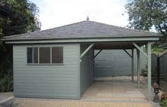 Creasy Garden Buildings work with you to create your perfect car garage or car port in Scunthorpe, Lincoln & surrounding areas. Carport Garage, Carport Ideas, Garage Ideas, Garden Buildings, Garages, Lincoln, Beach House, This Is Us, Car Ports