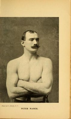 Pugilist Peter Maher from the Police Gazette Sporting Annual, 1897