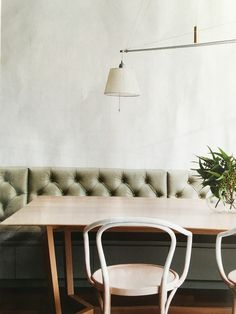 Leather fixed bench seating