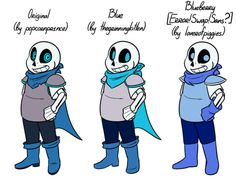 …'You forgot the gloves!' is probably the one complaint I hear the most about the Swap!Sans that I draw. Maybe, this thing'll help, idk.  On the left is the original design, made by popcornpr1nce.  In the middle is the design I use.  On the right...