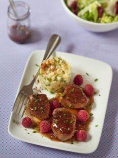 Filets de porc façon framboisine (recette québecoise)