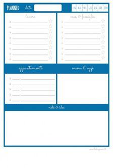 Agenda giornaliera da stampare gratis idee per la casa for Planner casa gratis