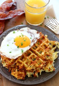 Cheesy Waffled Hash Browns - the delicious breakfast side dish you need make. Every bite of perfectly crisp and cheesy hash browns. Make for a crowd and top with eggs and bacon for the perfect brunch. Breakfast Dishes, Breakfast Recipes, Breakfast Waffles, Savory Waffles, Breakfast Casserole, Pancakes, Savory Breakfast, Breakfast For Dinner, Crepes