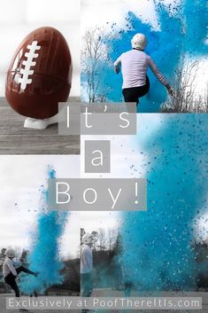 """Blue Gender Reveal Football 10 """"Fußball Gender Reveal mit Powder & Confetti Gender Reveal Footballs – Well come To My Web Site come Here Brom Football Pregnancy Announcement, Gender Reveal Announcement, Baby Boy Birth Announcement, Baby Reveal Photos, Twin Gender Reveal, Baby Gender Reveal Party, Gender Reveal Football, Firework Gender Reveal, Confetti Gender Reveal"""