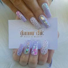 18 ers 220 ing 813 posts see photos and videos from elite gold coast nail salon glamour_chic_beauty day 251 fall flower and mermaid nail art Ongles Bling Bling, Bling Nails, My Nails, Salon Nails, Gold Glitter Nails, Gold Nail, Glitter Flats, Nail Art Rhinestones, Acrylic Nail Designs