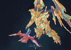 Unicorn Gundam, Mecha Anime, Mobile Suit, Kamen Rider, Old Things, Deviantart, Drawings, Artist, Painting