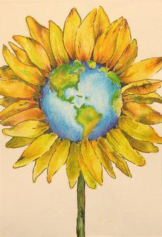 Sunflower Globe  (Source: animal-lover-earth-dreamer, via theresawholeuniverse)