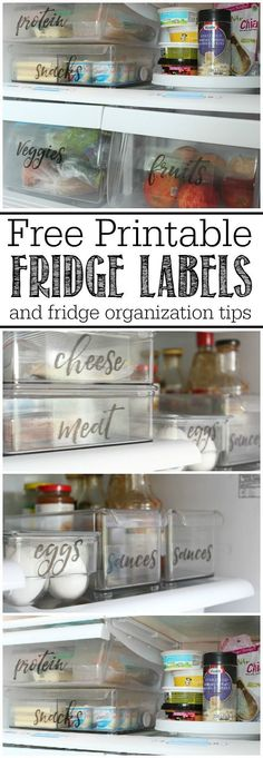 These free printable fridge labels and fridge organization ideas will help you get your fridge organized once and for all! These free printable fridge labels and fridge organization ideas will help you get your fridge organized once and for all! Organisation Hacks, Kitchen Organization, Kitchen Storage, Storage Organization, Craft Storage, Food Storage, Kitchen Shelves, Kitchen Styling, Food Styling