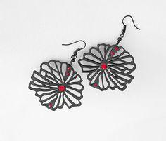 Limited edition designer earrings modern original design by DeUno