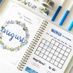 774 отметок «Нравится», 29 комментариев — 「 bullet journal; notes 」 (@studychoa) в Instagram: « my complete monthly spread for august! I like this a lot better than the one for july because the…»