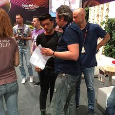 #Repost from @enricopicciolo with @ig_saveapp. Live! Interviews' time! #ilvolo #grandeamore #eurovision2015 #eurovision #ogaeitaly #escita #vienna #wien