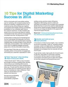 10 Tips for Digital Marketing Success in 2016 -- posted by EmailWire Press Release Distribution Services