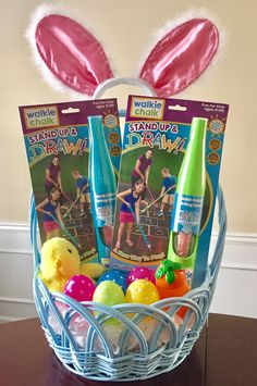 Looking for an easter basket idea hop into some of our favorite fill easter baskets with creative goodies from walkie chalk negle Image collections
