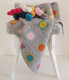 Luxury Granny Square Crochet Blanket Kit