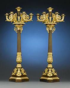 Antique Lighting, Candelabra, French, Thomire ~ M.S. Rau Antiques