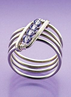 The Slightly Slanted Ring is a great jewelry-making project for all skill levels. Wire Jewelry Rings, Sea Glass Jewelry, Copper Jewelry, Jewlery, Jewelry Stand, Copper Wire, Bijoux Wire Wrap, Bijoux Diy, Bijoux Fil Aluminium