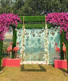 Vibrant Jhoola (Swing) Decor Ideas to Beautify your Mehndi Ceremony Marriage Decoration, Wedding Stage Decorations, Festival Decorations, Flower Decorations, Wedding Entrance, Wedding Mandap, Wedding Receptions, Mehndi Decor, Mehendi Decor Ideas