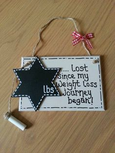 My weight loss plaque.