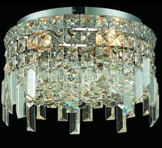 Maxim Collection 12″ Dia Small Crystal Flush Mount Ceiling Light