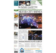 The front page of the Taunton Daily Gazette for Sunday, Dec. 7, 2014.
