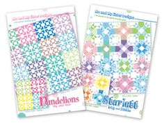 New patterns!! Check out our website for these two new pattern that showcase, Bandana, our new line of fabric for Moda.