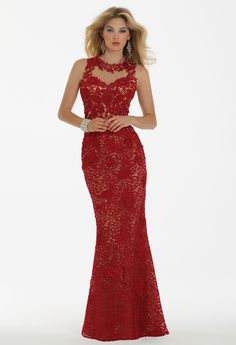 Mesh Lace Dress with Illusion Back from Camille La Vie and Group USA