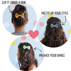 Ways to wear cute handmade hair bows