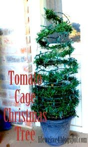 Life We Live 4: Tomato Cage Christmas Tree. Easy Tree Topiary for CHEAP!! Front Porch Decor